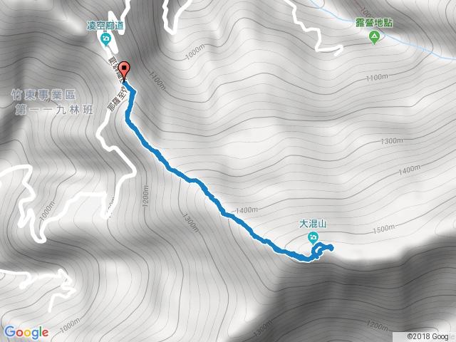 新竹尖石大混山原路來回20161221
