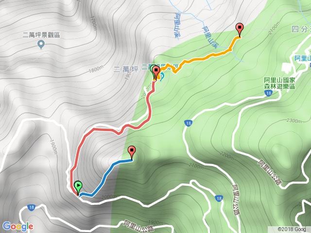 二萬坪山登山步道、二萬坪(黑森林)步道、二萬坪神木