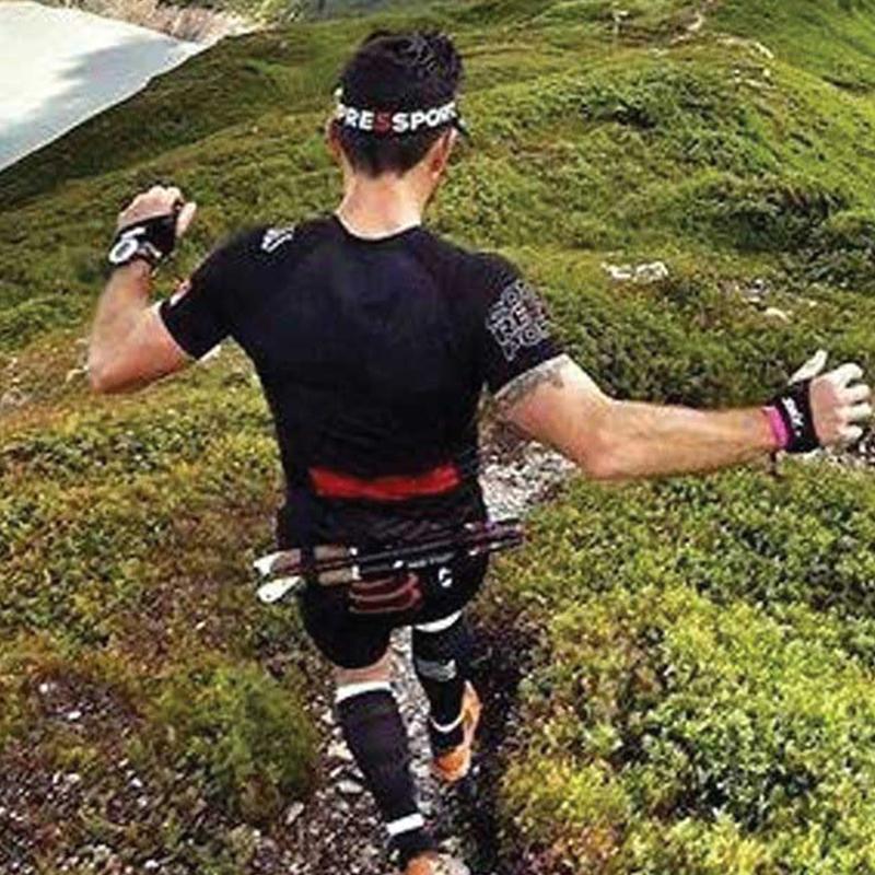 瑞士【Compressport】可掛號碼布 FREE BELT PRO 寬版彈性自由腰帶(可掛登山杖、360度開口)7