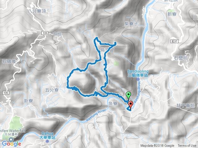 三貂嶺獅子嘴奇岩、烏塗窟山、瀑布群步道O型