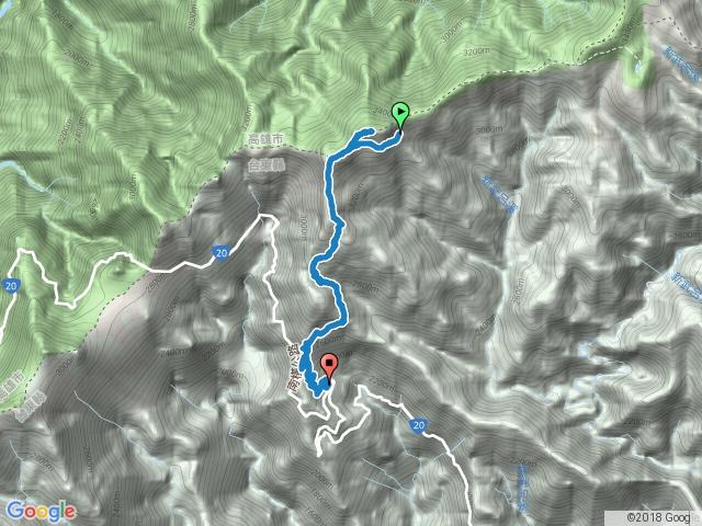 嘉明湖避難小屋回向陽遊客中心, 途中登向陽山