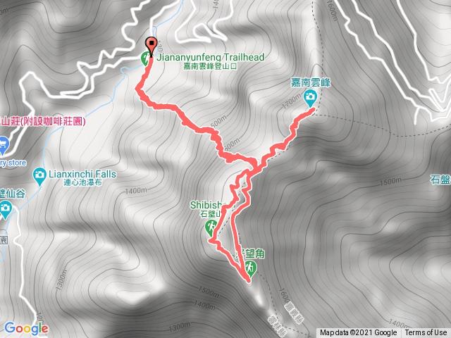 石壁山、好望角、嘉南雲峰步道O型