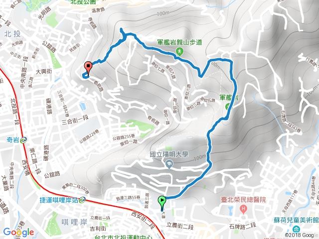 軍艦岩、丹鳳山親山步道
