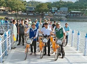 新店浮筒自行車道 遇颱能「收路」