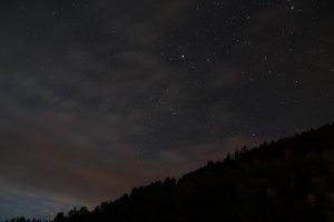 雪山369山莊夜晚天空