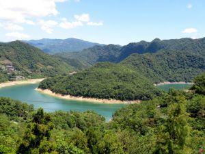 石碇千島湖。八卦茶園。永安步道