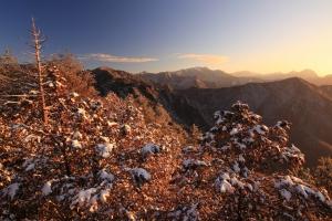 大雪山冬雪