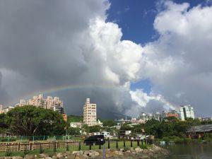 山竹颱風帶來北部雙彩虹與藍天綠水的祝福