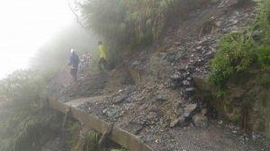 【公告】能高越嶺前段有落石改開放高遶路線 請遊客配合並注意安全