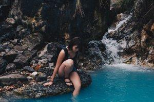 藍藍的池水-磺溪溫泉