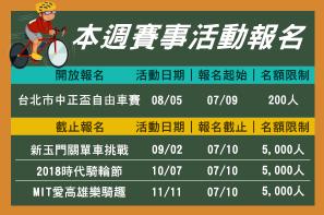 【報馬仔】7/10~7/23 即將開放與截止賽事一覽
