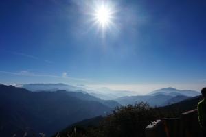 初雪 夕陽 雲海~百變合歡群峰