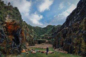 金瓜石地質公園。本山礦場 O型