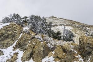雪霽天晴的合歡山