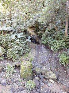 四分子古道、月扇湖山大岩壁