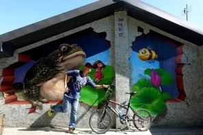 【旅遊】台中石岡九房彩繪村 綠隧道轉個彎遇見童話世界