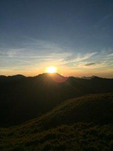 合歡山北峰,小溪營地之美