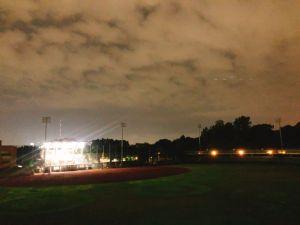 夜晚的八卦山天空步道