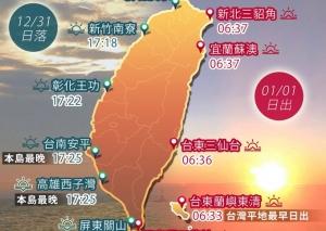 【新聞】迎接2017 日沒日出時刻報你知