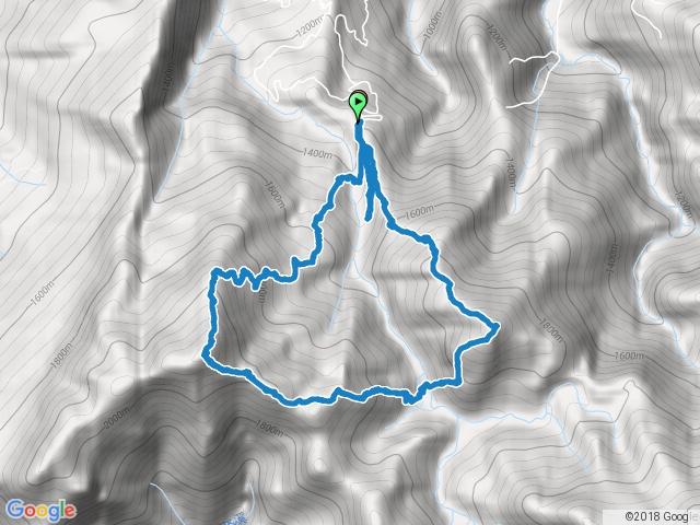 鹿場登山口-哈堪尼山-加里山O形