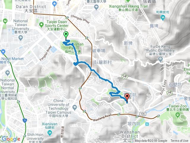 20180829福州山-中埔山-中埔山東峰-軍功山-抱子腳山-萬芳社區