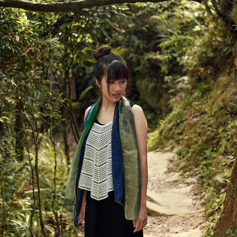 【BIJI】奇幻星空 嘉明湖 絲巾(台灣製)7