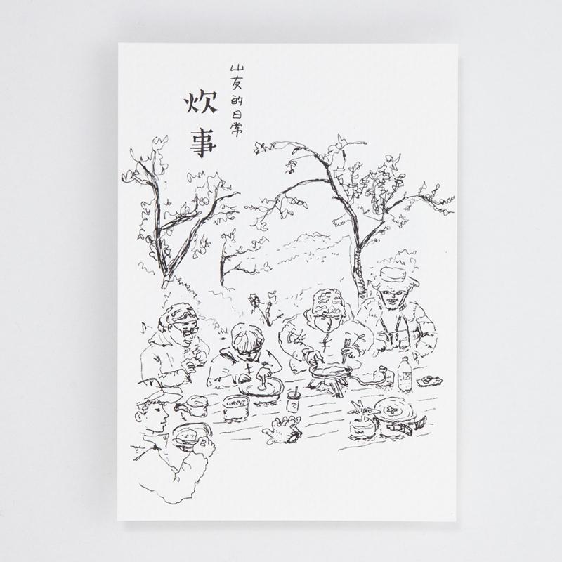 【BIJI】速寫山林 帆布袋 / 明信片組6