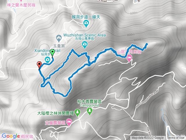 2020-06-26 新竹五峰天際線 五指山P型路線