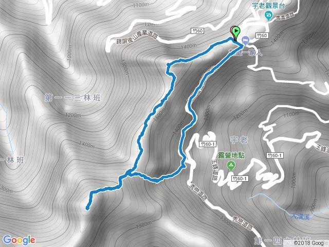 2018-02-14 新竹尖石 魯壁山-東穗山 O型