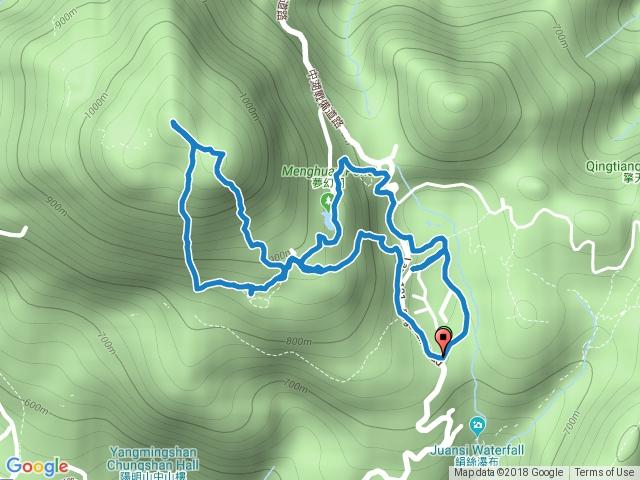 冷水坑-夢幻湖-七星山東峰-主峰-苗圃-七星公園