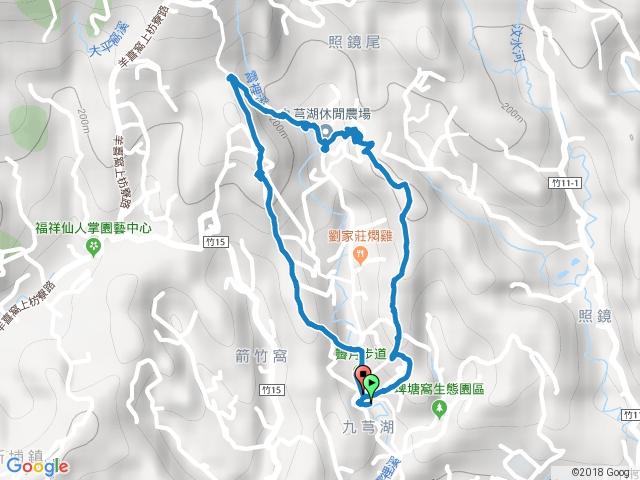 2017-12-10 新埔 九芎湖 霽月步道-觀南步道-九福步道O型.gpx