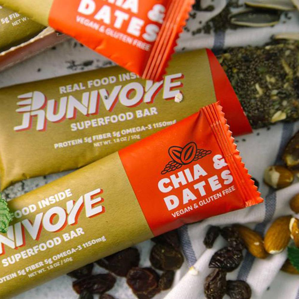 【Runivore】健康天然 超級食物能量棒(台灣製、無麩質、素食可、15個小口包)2
