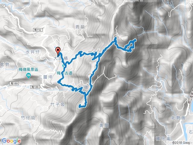 觀音步道>竹子尖山>獵鷹尖>伍龍步道