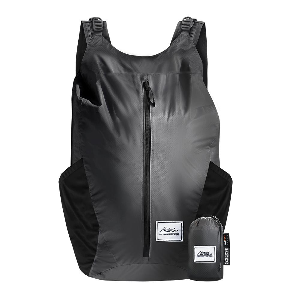 美國【Matador】登頂多用 口袋24L 防水背包(捲蓋設計、防水防刮、僅156g、Freerain24)2