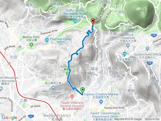 2018-08-26 軍艦岩-磺溪山-磺溪山前(北)峰
