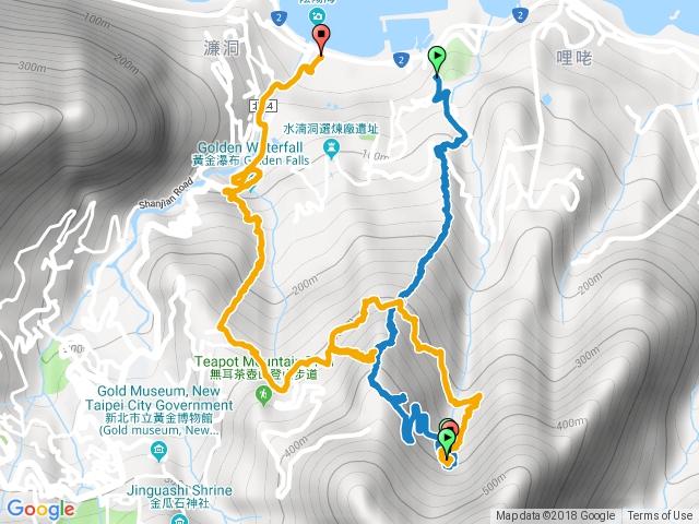 煙囪稜-復興山-黃金洞-茶壺山登山口-黃金瀑布