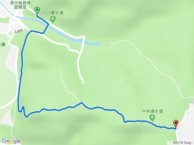 清水岩中央嶺造林步道