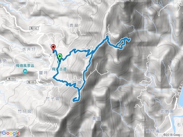 觀音步道、竹子尖山、獵鷹尖一線天、伍龍步道