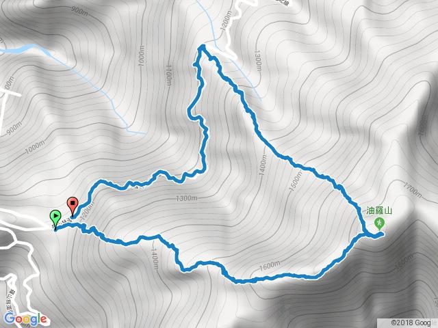 五峰油羅山第一登山口上第二登山口下20161231