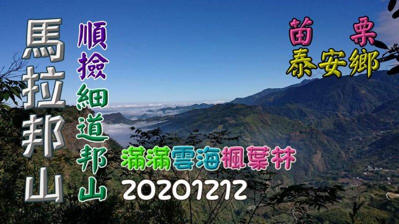 登馬那邦山、細道邦山,遊烏嘎彥竹林秘境,賞滿滿雲海、楓葉