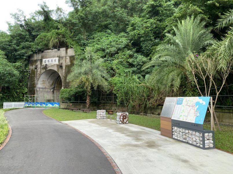 蘇澳鎮公所獲中央補助,進行「蘇澳鎮蘇東隧道自行車停駐廣場串聯工程」。記者林佳彣/攝影