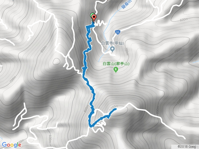 白雲山原路來回20180220