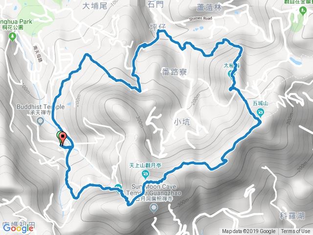 20190105_[O型] 桐花公園-天上山-五城山-太極嶺