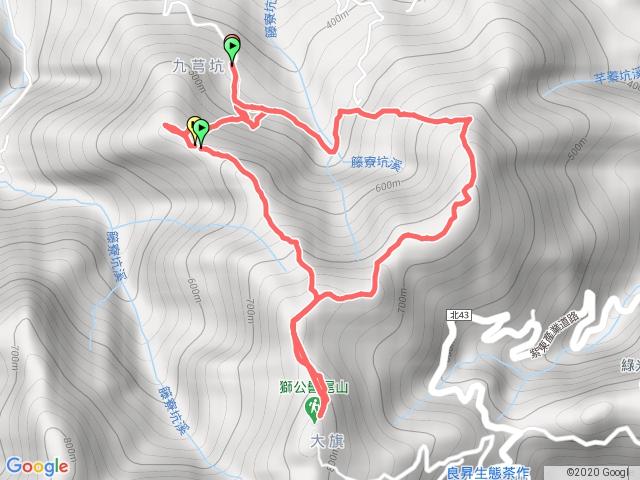 2020-08-16 0843 九芎坑山_獅公髻尾山(沒走到)_伏獅山