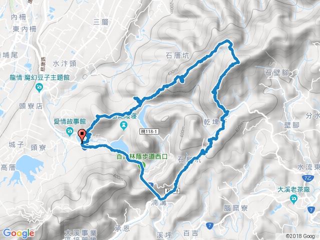 (大溪)草嶺山➜石厝坑山➜白石山(連走O形)2018-01-01