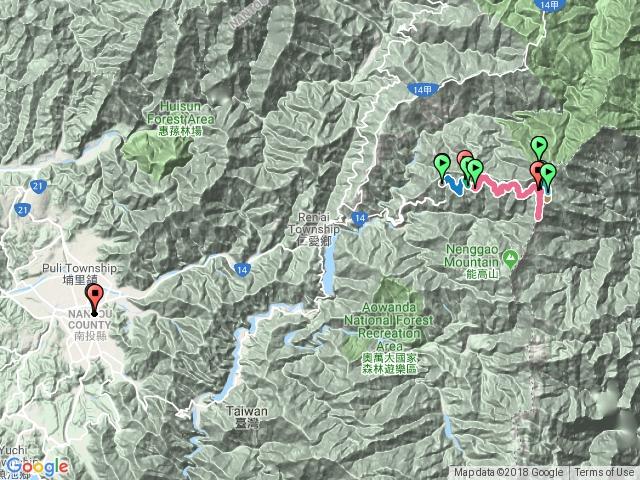 屯原登山口-天池山莊-奇萊南峰-南華山-光被八表