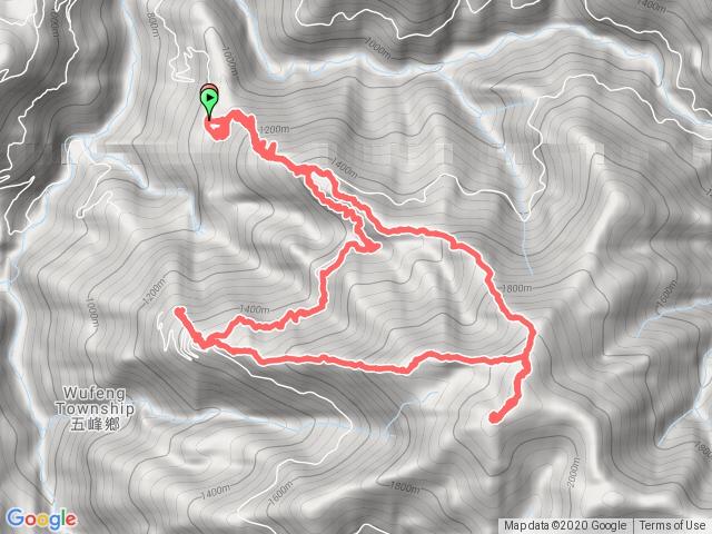 麥巴來山西北峰、麥巴來山、麥巴來山西峰O型