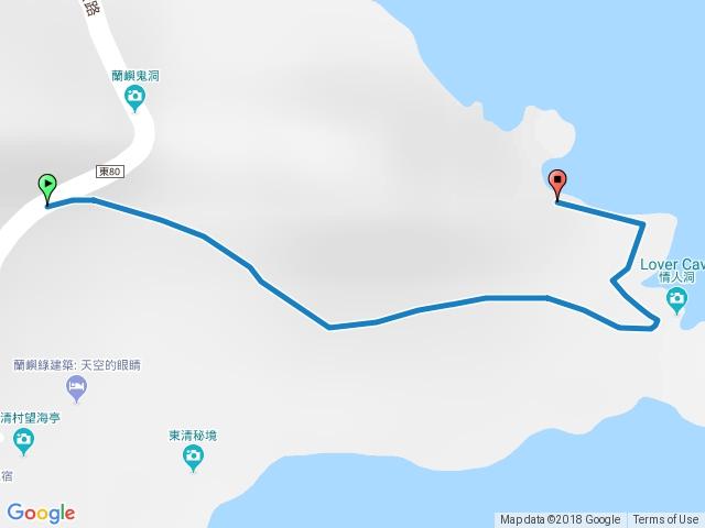 蘭嶼一線天(燕子洞)步道