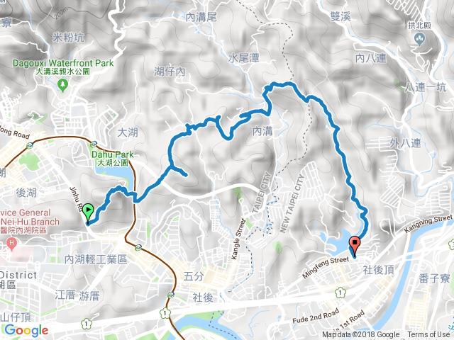 白鷺鷥山/康樂山/明舉山/內溝山/翠湖/金龍湖