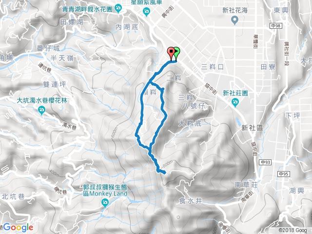 頭嵙山-5-1號步道上山,5號步道下山